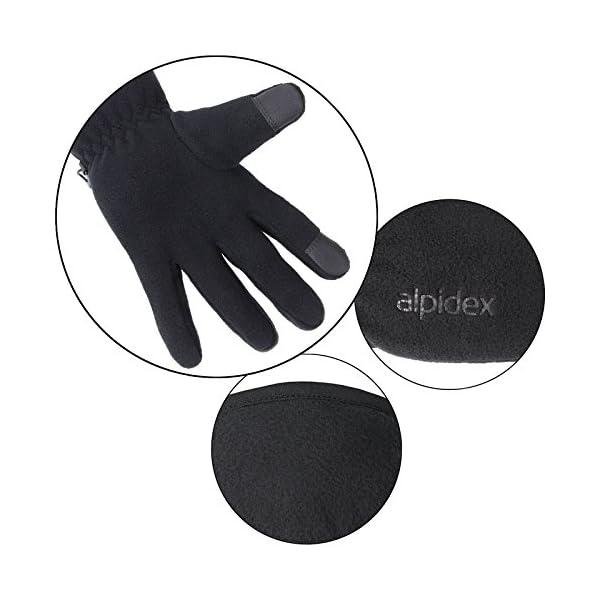 ALPIDEX Guantes de Lana con Thinsulate Guantes de Dedo con función de Tacto Unisex de Relleno Thinsulate 10