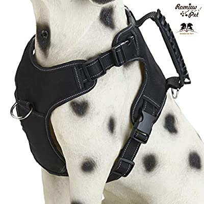 Romiew No Pull Dog Harness Adjustable Outdoor Pet Vest for Easy Walking with Multiple Colors,Large Medium and Small Size