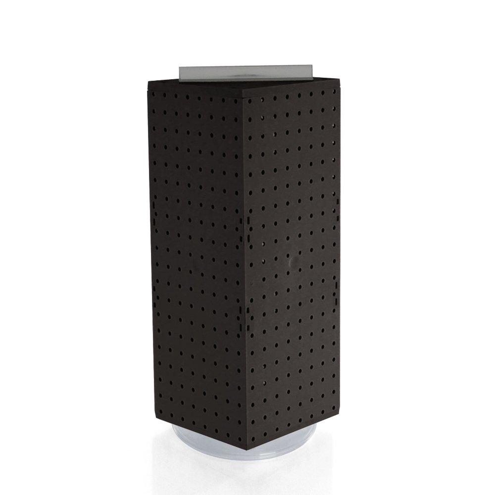 Azar 703385-BLK Interlocking Pegboard Display, 8-Inch by 8-Inch by 20-Inch, Black