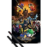 Poster + Hanger: The Lego Batman Movie Poster (36x24 inches) Boom And 1 Set Of Black 1art1® Poster Hangers