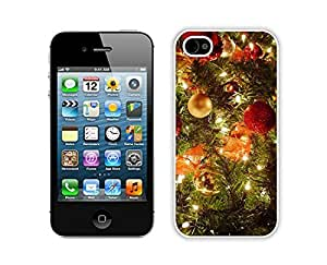Personalization Iphone 4S Protective Skin Case Merry Christmas White iPhone 4 4S Case 39