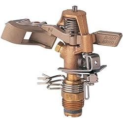 Rain Bird 25PJDAC Brass Impact Sprinkler, Adjustable 20° - 360° Pattern, 20 - 41' Spray Distance
