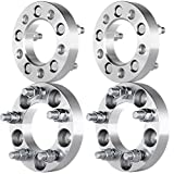 """ECCPP 4PCS 5lug 1""""(25mm) 5x100 to 5x4.5 Wheel Spacers Adapters for Toyota Pontiac Chrysler Dodge Plymouth Chevy Trucks with 12x1.5 studs (See description)"""