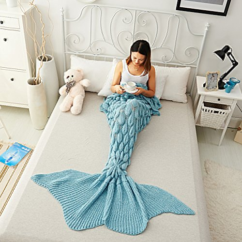 Coroler Stylish Queen Mermaid Blanket Extra Large Mermaid Tail Sleeping Bags With...