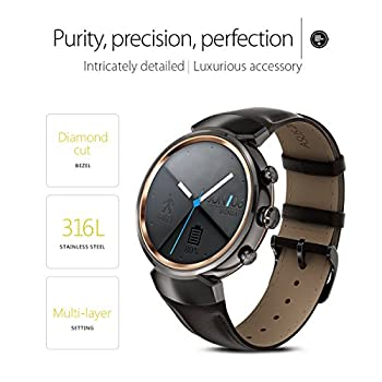 Asus Zenwatch 3 Wi503q-gl-db 1.39-inch Amoled Smart Watch With Dark Brown Leather Strap 2