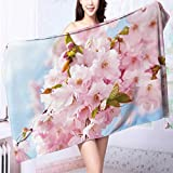 Quick dry bath towel peach flowers Absorbent Ideal for everyday use L39.4 x W19.7 INCH