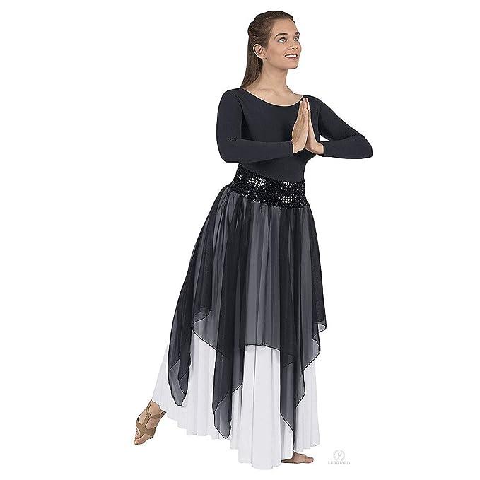 6b8782f89a Eurotard 39768 Adult Sheer Devotion Single Layer Overlay Sequin Belt Sold  Separately (Black)
