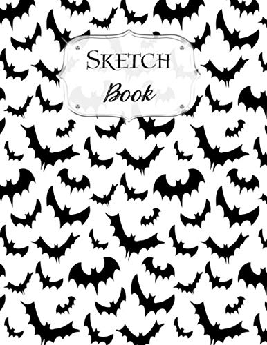 Sketch Book: Halloween | Sketchbook | Scetchpad for Drawing or Doodling | Notebook Pad for Creative Artists | #6 | Black White Bats]()