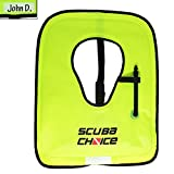 Scuba Choice Scuba Choice Adult Neon Yellow Snorkel Vest with Name box, X-Large
