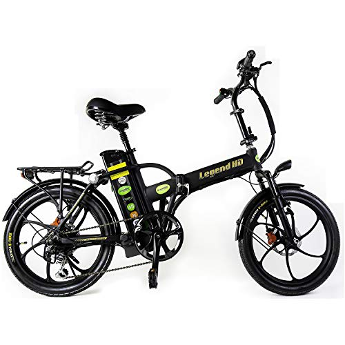 Green Bike Electric Motion Legend HD Battery Powered Motorized Foldable Bike Black/Black
