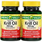 Spring Valley – Krill Oil 300 mg, Omega-3, 120 Small Softgels For Sale