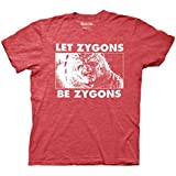Ripple Junction Doctor Who Let Zygons Be Zygons Adult T-Shirt XL Heather Red