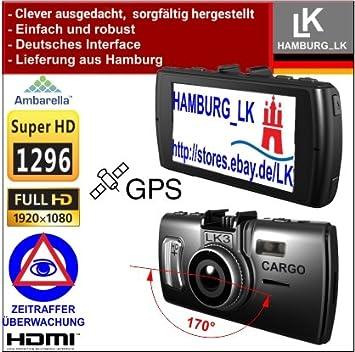 LK3 Cargo GPS – 2 K Super HD Videocámara Dashcam: con la nueva tecnología Ambarella