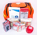 Ever Ready First Aid Fully Stocked First Responder Kit, Orange