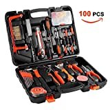 Tool Kit, Home tool set - CATUO 100Pcs DIY Household Hand Tool Set with Screwdrivers Pliers Wrenches Hammer Saw ect, Good for Home Office Shed Garage Bike Car Electronics Test Repair Maintenance