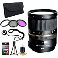 Tamron SP 24-70mm Di VC USD Lens for Nikon Digital SLR Cameras + 82mm 3 Piece Filter Kit + Lens Cap Keeper + Deluxe Starter Kit DavisMax Bundle