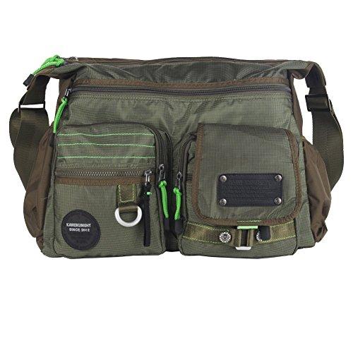 Innturt Large Messenger Bag Shoulder Bag Pack Tote Travel Daypack Green 15