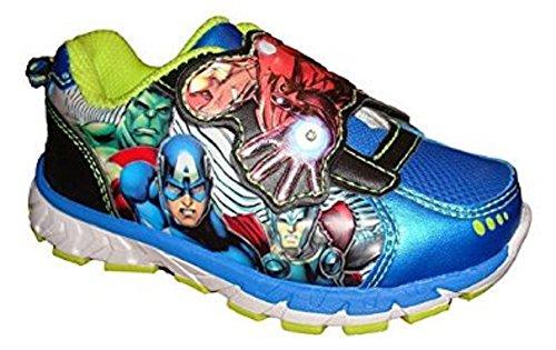 Marvel Avengers Captain America Lighted Boys Running Shoes -
