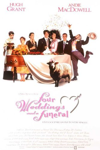 Four Weddings and a Funeral POSTER Movie (27 x 40 Inches - 69cm x 102cm) (1994) (UK Style - Scott Jeremy Uk