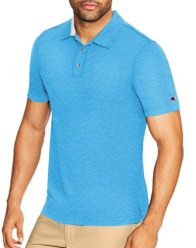 Champion Men's Golf Polo, Hotline Blue Heather, (Champion Line)