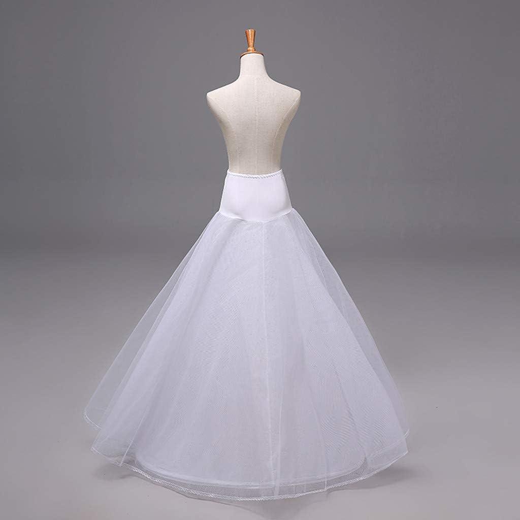 Mauwey Long 1 Hoop 2 Tier A-Line Petticoat Slip Crinoline Underskirt for Women Ball Gown Wedding Dress Accessories Half Slips