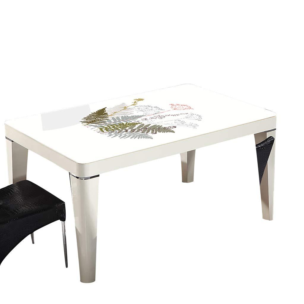 テーブルクロスソフトガラス100x100cm防水アンチホットアンチオイル簡単クリーンテーブルプロテクターコーヒーティーテーブルマットプラスチックテーブルクロス   B07RYKF12Y