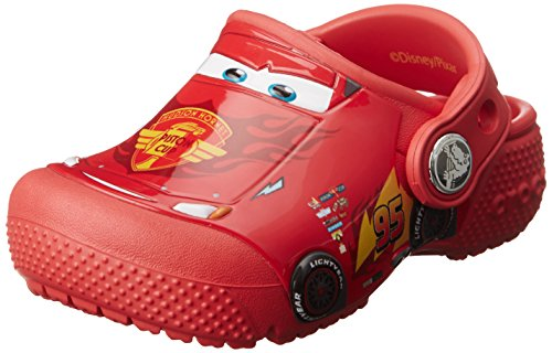 Crocs Kids' funlab Cars K Clog, Flame, 5 M US Toddler (Disney Shoes Baby Size 5)