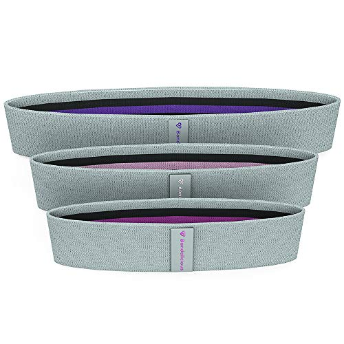 Bandelicious Womens Hip Circles - Resistance Exercise Bands for Glutes and Booty - Non-Slip Premium Design - Legs and Butt Intense Workout - Muscle Activation - Different Resistance Levels