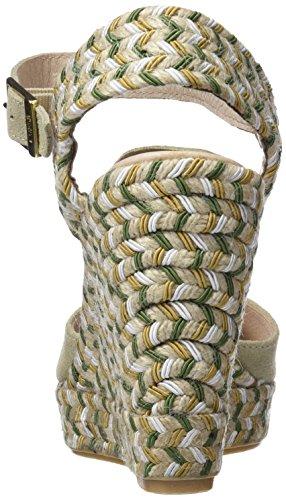 CUPLE Peep Toe Destalonado Serraje Sable, Sandalias con Punta Abierta Para Mujer Hueso (Sable)