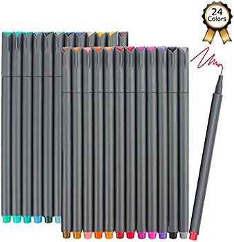 iBayam 24 Colors Writing Drawing Markers Fineliner Pens