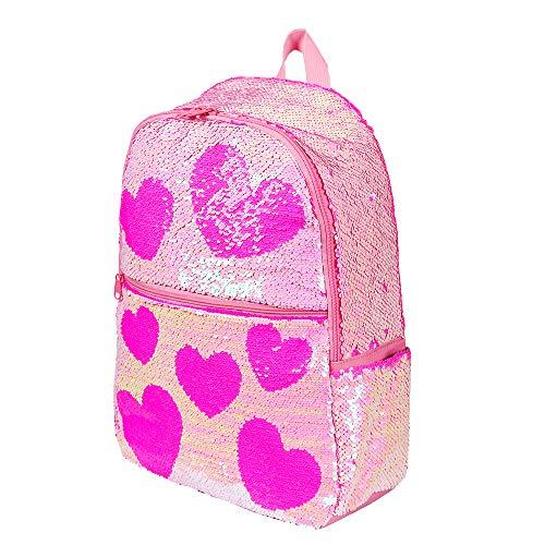 Cute Sequin Kids Backpack for Girls Elementary School Book Bag...