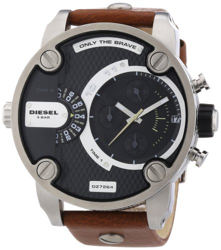 Diesel Watches Little Daddy (Brown/ Silver/ Black)