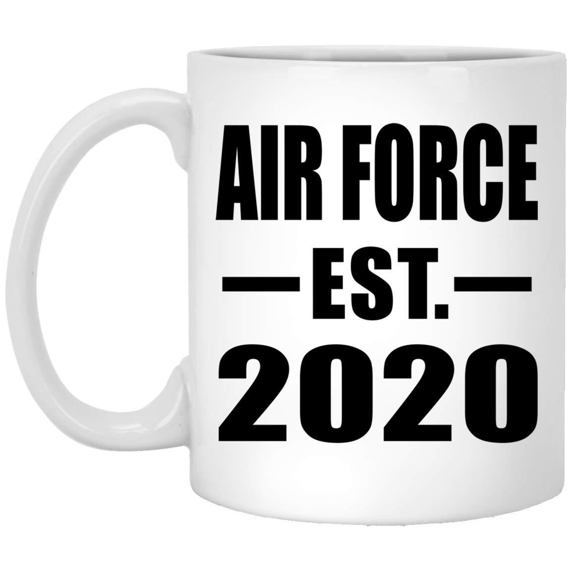 Air Force Graduation 2020.Amazon Com Air Force Established Est 2020 11oz White