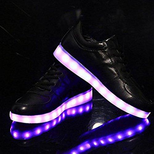 DoGeek Scarpe Led Luminosi Sneakers Scarpe uomo Con Le Luci Accendono Scarpe Sportive