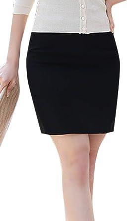 Faldas Lápiz De Las Mujeres Sólido con Cinturón Mini Falda Ropa de ...