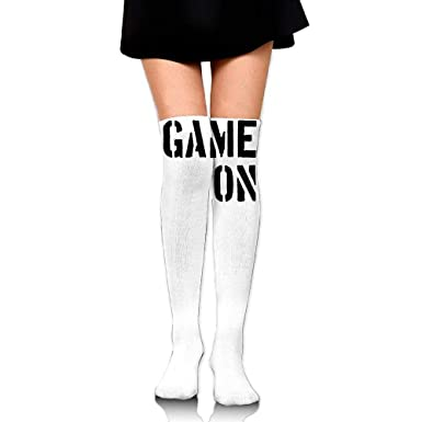 91e9b45c8 Image Unavailable. Image not available for. Color  Women Thigh High Socks  Over Knee ...