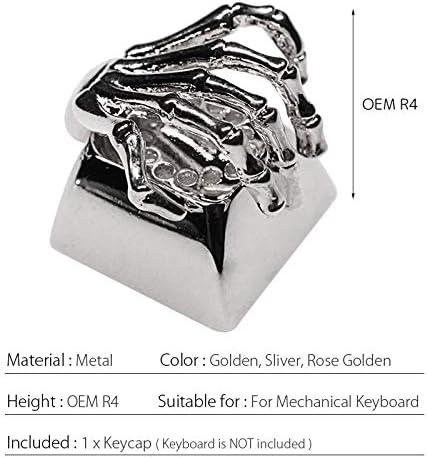 MOCOHANA Esc Keycap Bone Hand Metal DIY Custom Personality Keycap for Mechanical Keyboard R4 Rose Golden