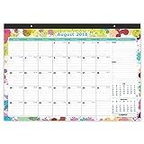 "Cabbrix October 2018 - December 2019 Monthly Desk Pad Calendar, 17"" x 12"", Ruled Blocks"