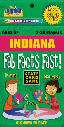 Indiana Fab Facts Fast Card Game (Indiana Experience)