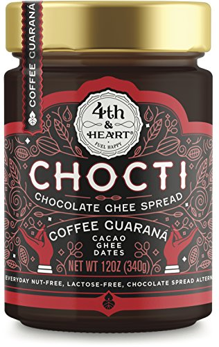 Chocti Chocolate Coffee Ghee Cacao Spread by 4th and Heart, 12 Ounce, Grass-fed, Lactose-free, Certified Paleo - Butter Pick