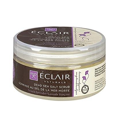 Eclair Naturals Dead Sea Salt Body Scrub French Lavender, 9 Ounce