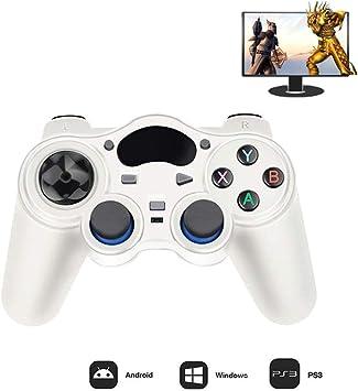 HRRH Wireless Joystick Joypad, 2,4 G de Gamepad para PS3 / Smart Phone/Tablet PC Smart TV Box,Blanco: Amazon.es: Electrónica