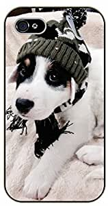 iPhone 6 Case Hipster puppy with hat - black plastic case / dog, animals, dogs