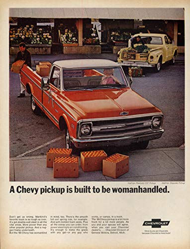 A Chevrolet Fleetside CST Pickup is built to be womanhandled ad 1969 L produce