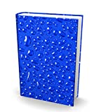 Book Sox Stretchable Book Cover Rain Drops Fits Most Hardcover Textbooks up to 9x11 Adhesive-Free Nylon Fabric School Book Protector. Easy to Put On Washable & Reusable Jacket