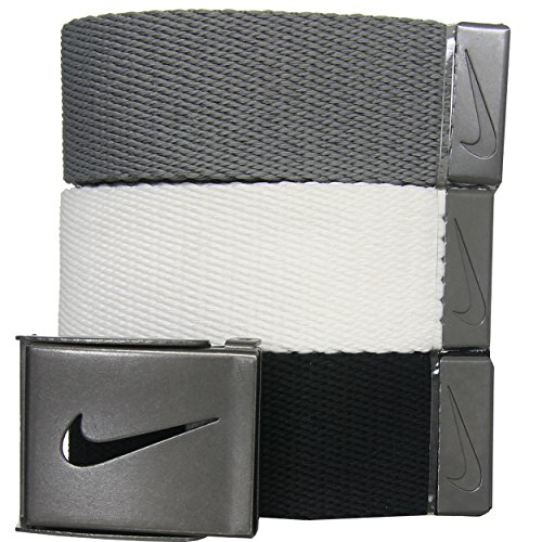 Nike Men's 3 Pack Web, White/Gra...