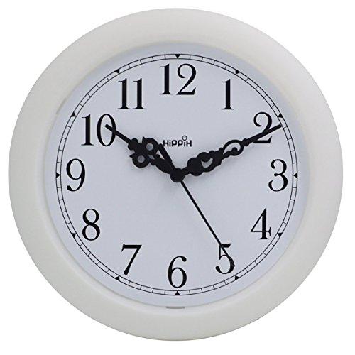 Hippih Round Plastic Decorative Clock