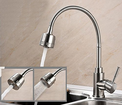 858 Single - Tyrants Faucet Kitchen 304 stainless steel kitchen kitchen fittings and hot and cold kitchen tap single hole kitchen faucet Kf 858, brass tap water