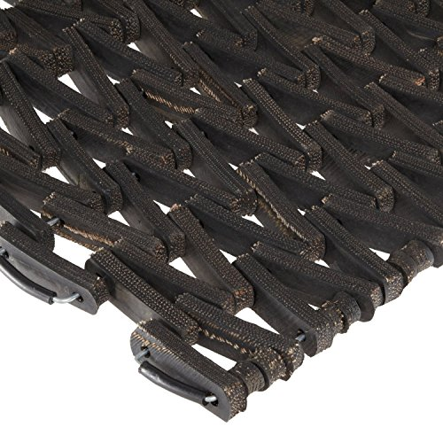 Durable Durite Recycled Tire-Link Outdoor Entrance Mat, Herringbone Weave, 18