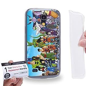 Case88 [Samsung Galaxy S4 Mini] Gel TPU Carcasa/Funda & Tarjeta de garantía - Dragon Ball Z GT AF Son Gohan Goku Gohan Vegeta Bulma Kuririn Android #16 17 0572